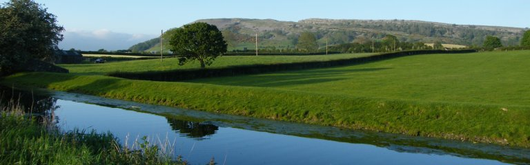 Farleton Knott viewed from the Lancaster Canal nr North Road
